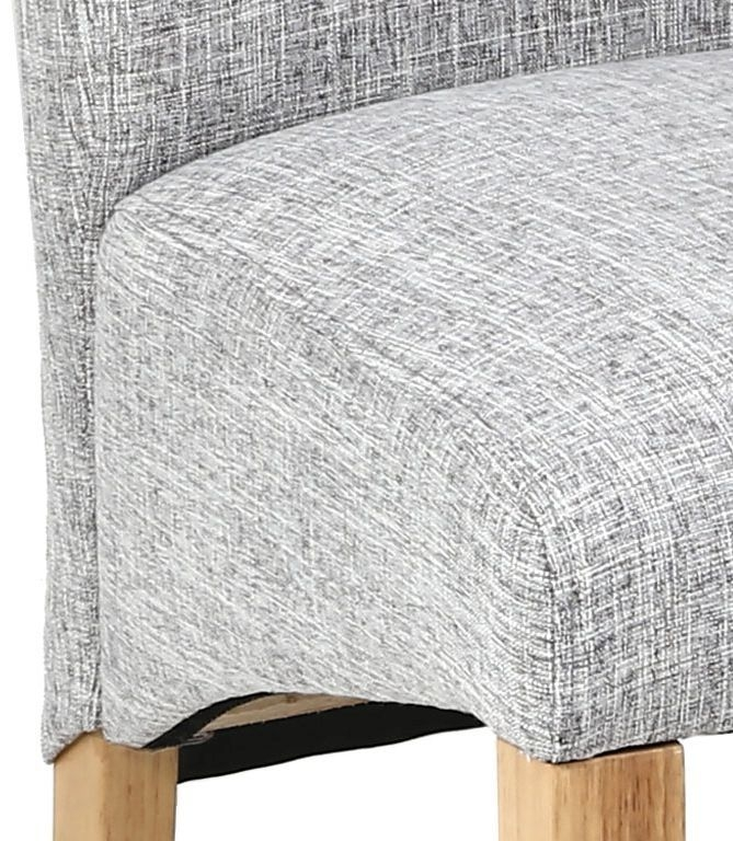 Karta Scroll Back Flax Effect Grey Weave Dining Chair ...
